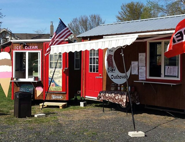 In Grand Isle, the Outhouse offers burgers, fries and tater tots, among other summer snacks. - COURTESY OF THE OUTHOUSE