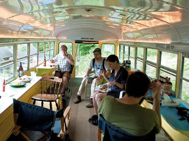 Inside the bus - HANNAH PALMER EGAN