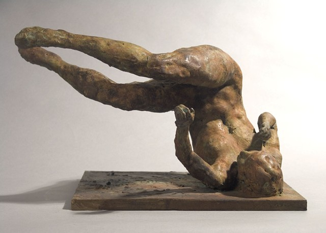 """""""Tumbling Woman"""" by Eric Fischl - COURTESY OF HALL ART FOUNDATION"""