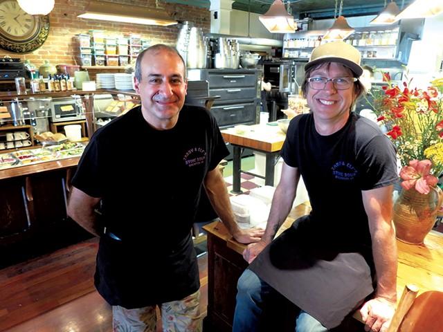 Avery Rifkin (left) and Tim Elliott - MATTHEW THORSEN