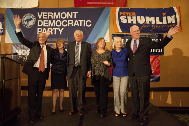 Vermont's congressional delegation and their spouses. - FILE: MATTHEW THORSEN
