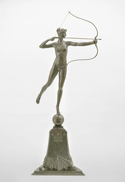 """""""Diana of the Tower"""" (c. 1899) by Augustus Saint-Gaudens - COURTESY OF SHELBURNE MUSEUM"""