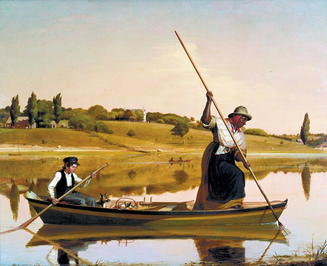 """Eel Spearing at Setauket"" (1845) by William Sidney Mount - COURTESY OF SHELBURNE MUSEUM"