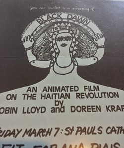 "Original flyer for ""Black Dawn"""