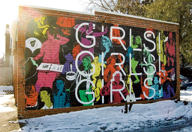 """The first """"Girls! Girls! Girls!"""" mural in Richmond, Va."""