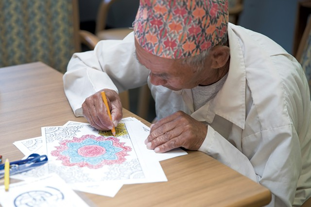 Harka Rai doing some coloring - JAMES BUCK