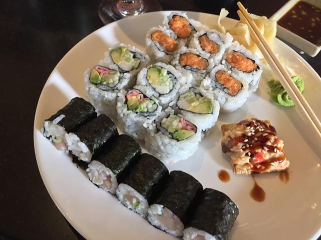 Asian Bistro's sushi lunch - HANNAH PALMER EGAN