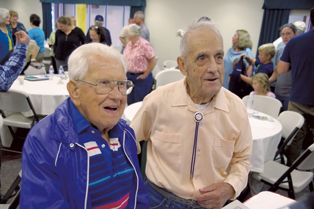 Hall of Famers Lucien Paquette (left) and Fred Webster - COURTESY OF STEPHEN MEASE