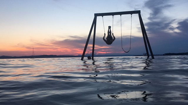 Swinging at sunset - COURTESY