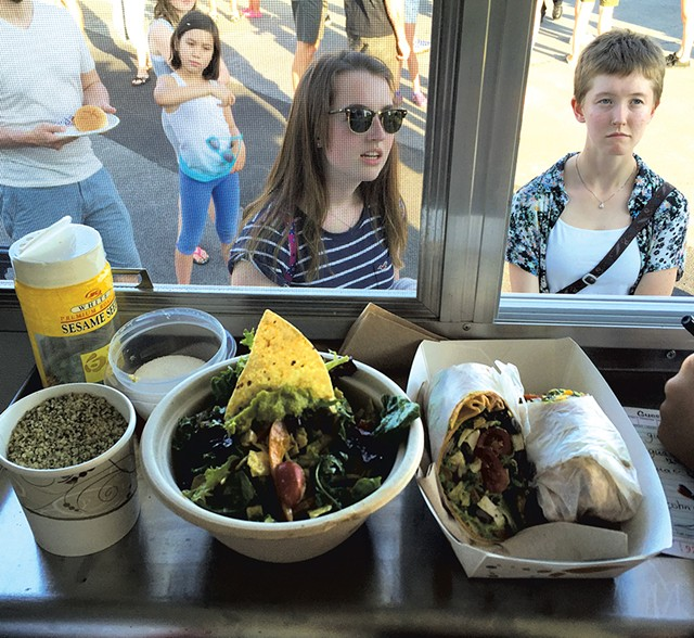 Salad and wrap inside the Streetgreens food truck - SALLY POLLAK