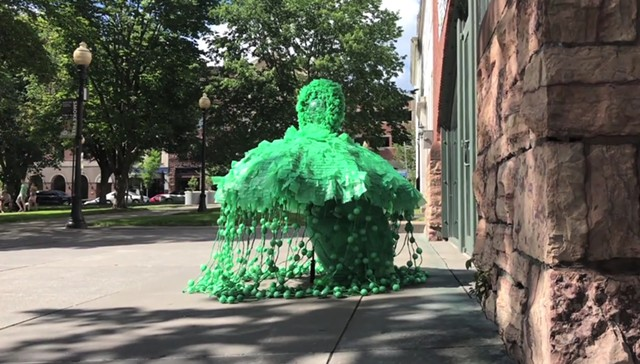 """Out for a stroll with """"Green Umbrella,"""" by Kate Donnelly - KATE DONNELLY"""