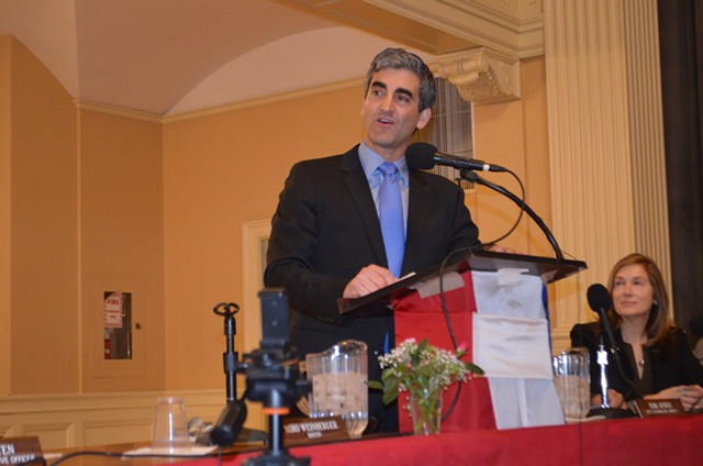 Mayor Miro Weinberger in March 2017 - FILE: KATIE JICKLING