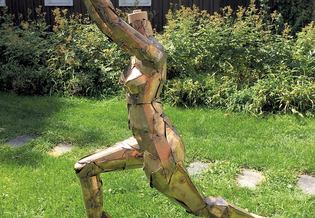In-progress sculpture by Tyler Vendituoli - COURTESY OF TYLER VENDITUOLI