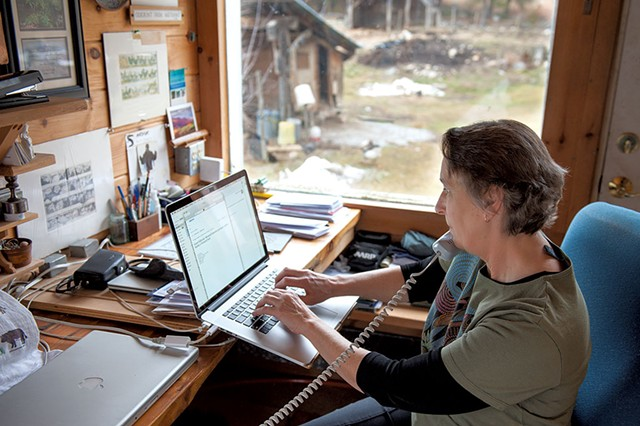 Annette Smith in her home office - ADAM VANDERMINDEN