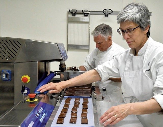 Kevin (left) and Laura Toohey of Bijou Fine Chocolate - LEE KROHN