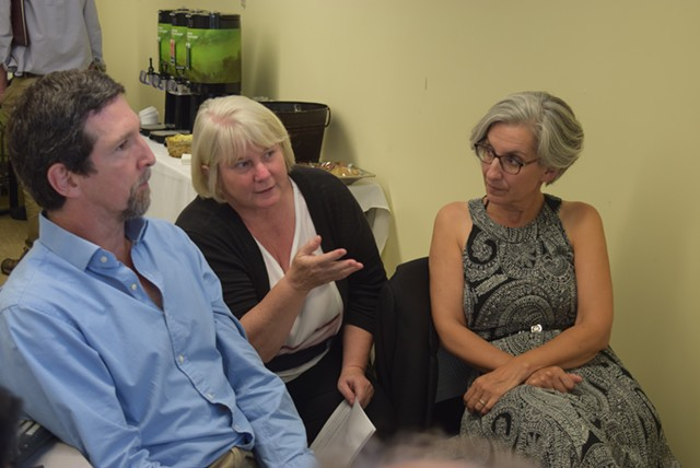 Bill Laberge, Michele Boomhower and Liz Gamache, members of the Vermont Climate Action Commission - TERRI HALLENBECK