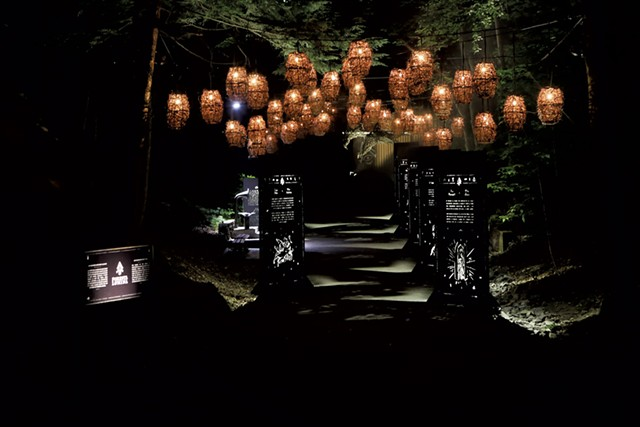 Entrance to Foresta Lumina - COURTESY OF  FORESTA LUMINA