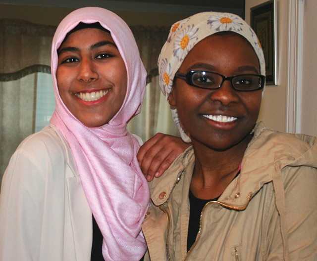 Kiran Waqar (left) and Hawa Adam - COURTESY OF MUSLIM GIRLS MAKING CHANGE