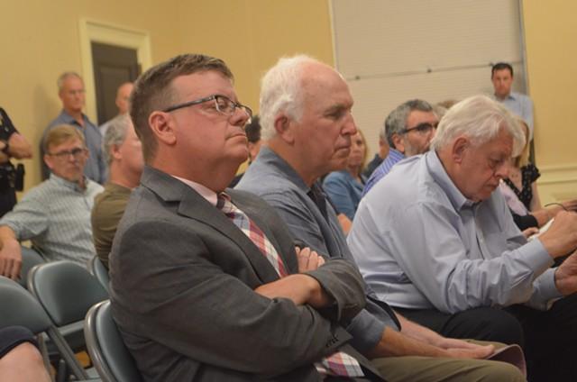 David Provost listens at City Council Monday - KATIE JICKLING