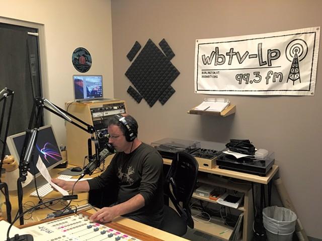 WBTV-LP DJ Adam Rabin recording a show at the station's studio - DIANE SULLIVAN