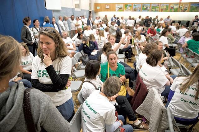 Teachers waited for updates during negotiations last week - JAMES BUCK