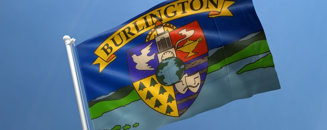 Current Burlington flag - COURTESY OF BURLINGTON CITY ARTS