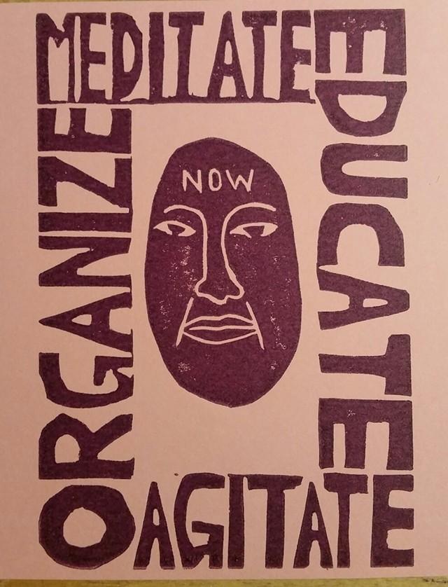 """Unapologetically political art"" print by Jabari Jones on view at the Hive - JABARI JONES"