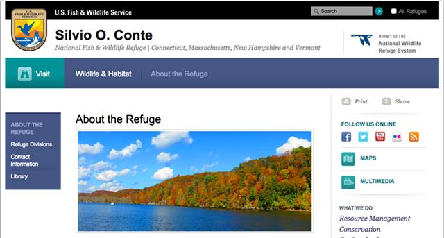 The refuge's website - SCREENSHOT