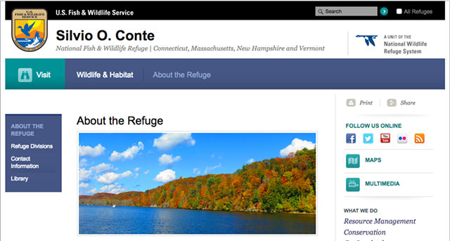 The refuge's website - SCREENSHOT