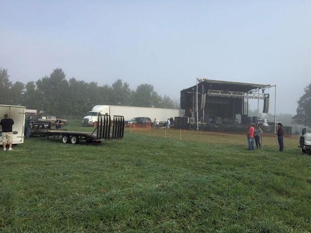 The concert field for Shrinedom 2017 in Irasburg - COURTESY OF BILL PRUE
