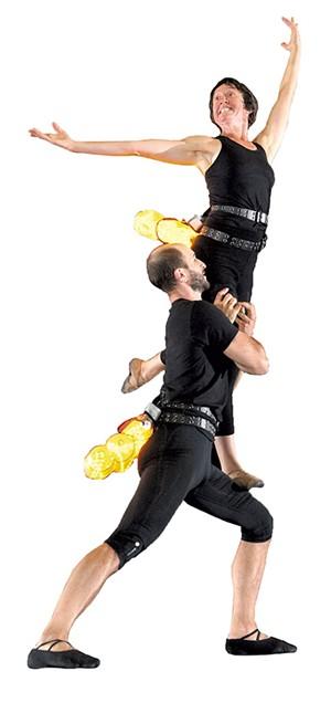 Chatch Pregger and Avi Waring dancing as fireflies - MATTHEW THORSEN