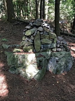 "A ""mega cairn"" on the trail - COURTESY OF KRISTEN RAVIN"