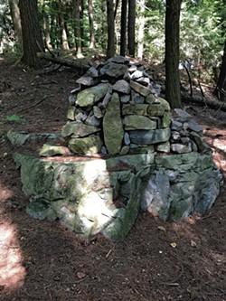 "A ""mega cairn"" on the trail - COURTESY OF KRISTEN RAVIN"