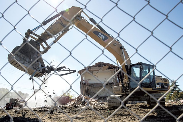 Demolition of Larkin Terrace hotel to make way for a 60-unit apartment complex - JAMES BUCK
