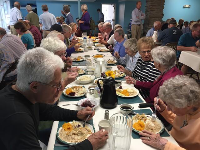 Chicken pie supper at Richmond Congregational Church - SALLY POLLAK