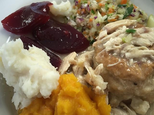 Chicken pie supper in Richmond - SALLY POLLAK