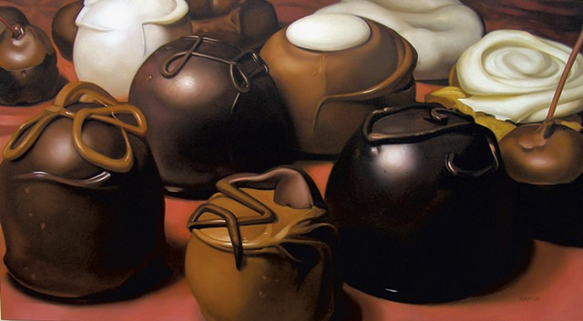 """""""Chocolates"""" by Margaret Morrison - COURTESY OF WOODWARD GALLERY"""