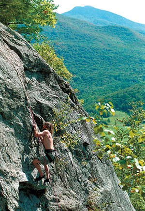 Climber in Lower West Bolton - FILE: JEB WALLACE-BRODEUR
