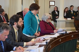 Sen. Debbie Ingram speaking in favor of raising the legal smoking age to 21 - FILE: TERRI HALLENBECK