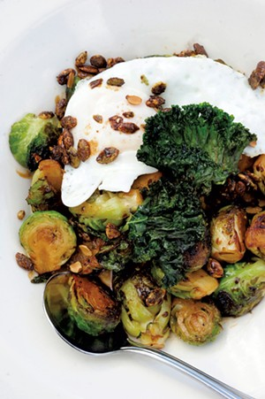 Brussels sprouts and a fried egg - JEB WALLACE-BRODEUR