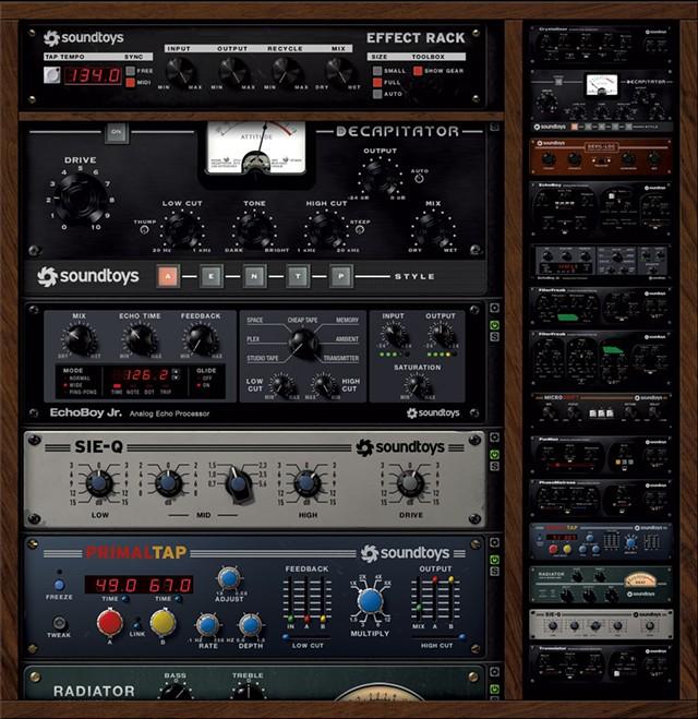 Soundtoys plug-ins in use