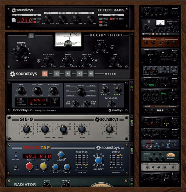 Soundtoys plug-ins in use