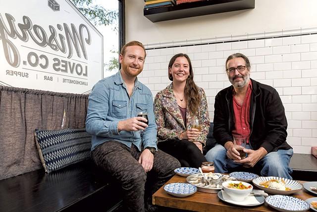 Left to right: Dan White, Meg Randall and Michael Nedell - OLIVER PARIN I