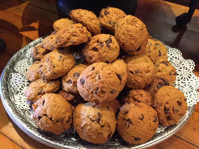 Pumpkin-chocolate chip cookies at Stone Soup - SALLY POLLAK