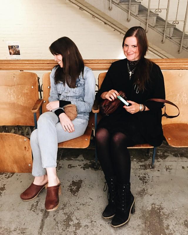 Abbey Meaker (left) and Viktoria Strecker - RACHEL ELIZABETH JONES