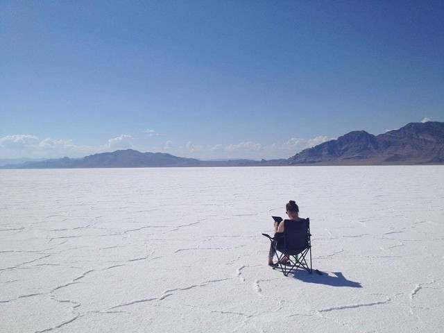 Viktoria Strecker taking in the Salt Flats on her roadtrip. - VIKTORIA STRECKER