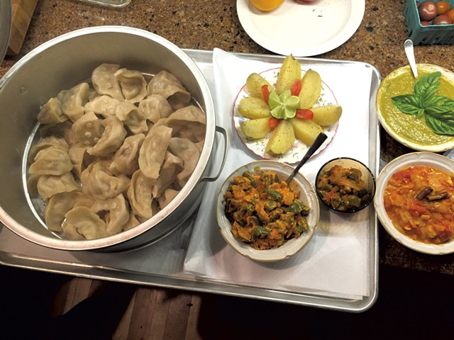 Farm dinner made by Tenzin Tsamchok of Rockville Market Farm - COURTESY OF KEENANN ROZENDAAL