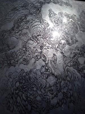 A scratched drawing by Viktoria Strecker - VIKTORIA STRECKER