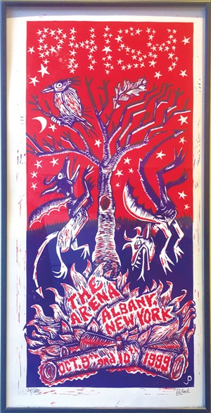 A poster from a 1999 show in Albany, N.Y., by Jim Pollak - RACHEL ELIZABETH JONES