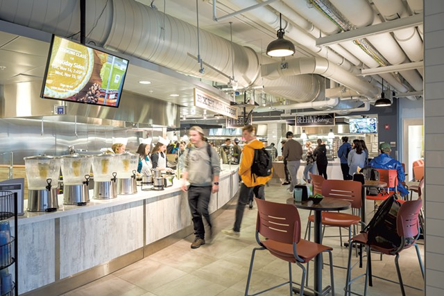 UVM students in the Central Campus Dining Hall - OLIVER PARINI